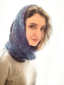Storm Clouds Moebius Cowl by Laura Barker