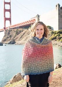Pinwheel gradient shawl