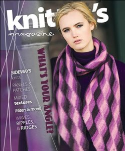 Rising Tides is on the cover of Knitter's Magazine K125