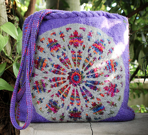 Rose Window Tote KAL by Laura Barker